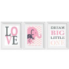 Baby Cross Stitch Elephant Love Big Dream Little by NikkiPattern
