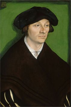 Lucas Cranach the Elder - Renaissance - Portrait of a Man Old Portraits, Classic Portraits, Portrait Art, Renaissance Men, Renaissance Clothing, Historical Clothing, Jan Van Eyck, Renaissance Portraits, Renaissance Paintings
