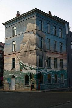 I live in the building painted like a... So cool!