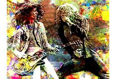 LED Zeppelin Jimmy Page Robert Plant Treppe Led von PoolPartyPopArt