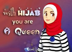 with your hijab.........
