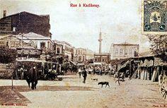 Kadıköy Çarşı 1900'ler Best Cities, Big Ben, Istanbul, Street View, City, World, Travel, Painting, Viajes