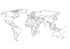 World map coloring page: the good projection (ie non-distorted Greenland)
