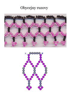 Afbeeldingsresultaat voor free seed bead patterns and instructions Beaded Necklace Patterns, Seed Bead Patterns, Beaded Earrings, Beading Patterns, Seed Bead Jewelry, Bead Jewellery, Bead Loom Bracelets, Beaded Ornaments, Bijoux Diy