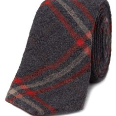 Plaid Wool Tie. Textured, colored and patterned. Combo of champs.