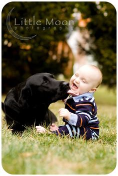 This is absolutely the cutest picture ever. That's probably because I love dogs. Haha and happy babies. Haha it's adorable   # Pin++ for Pinterest #