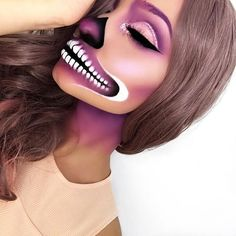 Awesome Halloween Makeup Gallery from the Expert Cool Halloween Makeup, Halloween Looks, Scary Halloween, Happy Halloween, Halloween Costumes, Helloween Make Up, Makeup Gallery, Bob Lace Front Wigs, Fantasias Halloween