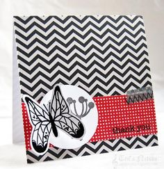 Butterfly Thank You Card by Tenia Sanders-Nelson - Cards and Paper Crafts at Splitcoaststampers