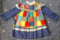 70s Patchwork Dress 1824 Months by lishyloo on Etsy, $10.00