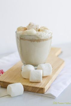 Amazing white hot chocolate recipes, with or without the Frangelico. (Mmmm.)
