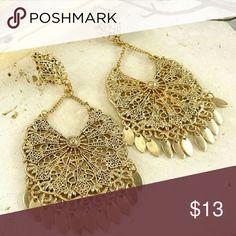 """Alejandra Filigree Earrings Vintage inspired dangling earrings 3"""" Jewelry Earrings"""