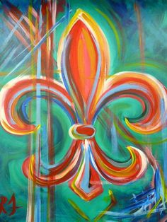 fleur de lis art - Google Search