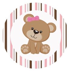 Papelaria completa e com medidas para imprimir. Tatty Teddy, Baby Shower Oso, Teddy Bear Party, Cardboard Box Crafts, Art Carte, Bear Theme, Baby Shawer, Baby Clip Art, Party Kit