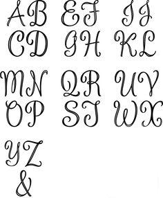 Silver Script Monogram Cake Topper