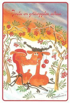 ˇˇ Moose Art, Anna, Christmas, Animals, Painting, Yule, Animales, Navidad, Animaux