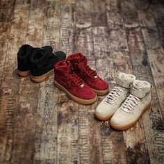 Nike Air Force 1 High Suede Weinrot