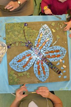 community garden mosaic pavers - join project kids and adults