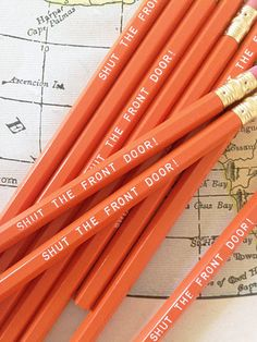 Shut the Front Door Pencil 6 Pack by Earmark
