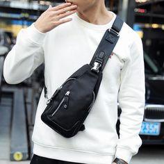 Fashion Handbags, Fashion Bags, Mens Fashion, Crossbody Shoulder Bag, Crossbody Bag, Nylon Bag, Cloth Bags, Bag Storage, Purses And Bags