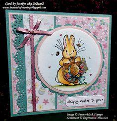 Penny Black Garden Friends Easter card