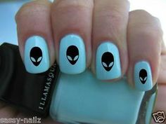 ALIEN SPACE NOVELTY NAIL Art TRANSFER WRAP NOT FOIL STICKERS DECAL WATER | eBay