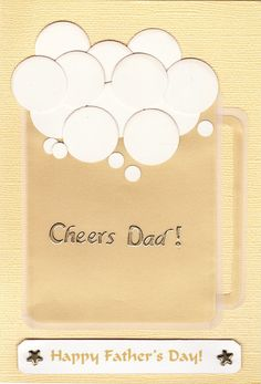 Cheers Dad!  Happy Father's Day Card