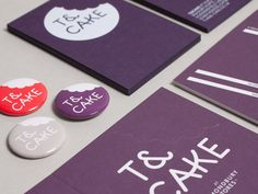 Brand identity for Yorkshire-based cafe, T&Cake. For branding and graphic design projects, please send enquiries to: hello Cake Business, Business Card Logo, Business Card Design, Creative Business, Brand Identity Design, Branding Design, Logo Design, Web Design, Cake Branding