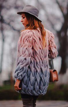 Hand Knit women's cardigan women's jacket women hand knitted dress sweater wool cardigan women's clothing handmade turtleneck cashmere