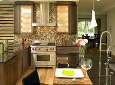 Walnut Kitchen   Modern   Kitchen   Charlotte   E3 Cabinets U0026 Design