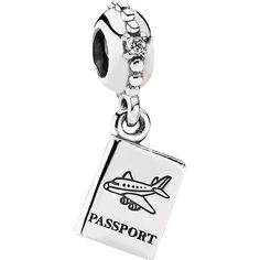 Pandora Passport Charm - Precious Accents- international traveler