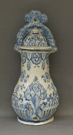 Wall fountain Date: 18th century Culture: French Medium: Faience