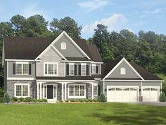 Colonial Home Plan with 2712 Square Feet and 4 Bedrooms from Dream Home Source | House Plan Code DHSW077531