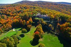 Beech Mountain Clubhouse as seen from the air
