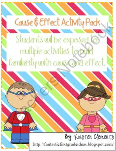 Cause and Effect Activities product from First-Grade-Fun on TeachersNotebook.com