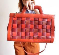 vintage woven bag