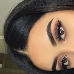 Gorgeous Makeup: Tips and Tricks With Eye Makeup and Eyeshadow – Makeup Design Ideas Makeup Eye Looks, Red Makeup, Cute Makeup, Glam Makeup, Gorgeous Makeup, Pretty Makeup, Skin Makeup, Makeup Inspo, Eyeshadow Makeup