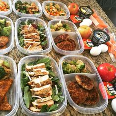 Meal prepping 101. Get in the habit now. Thank yourself later.