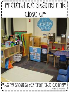Ice Skating Rink in the Dramatic Play Center by Pocket of Preschool
