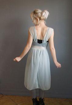 vintage+blue+babydoll+lingerie+dress+/+s+by+DeathByVintage+on+Etsy,+$32.00
