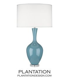 "$325 retail, 33.5"" H, Hepburn Table Lamp | Blue"
