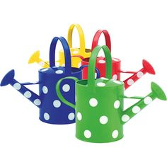 pictures of watering cans | Set of 4 Watering Cans with Polka Dots | Behrens Manufacturing