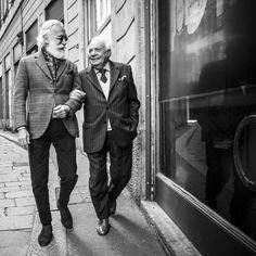 Ageless, Italian style personified by Sr. Alborghetti & Sr. Franco Bompieri.  Photo by ModuloADV