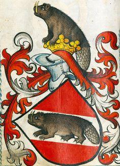 Scheibler Armorial, Germany ca. 1450-1480 (München, BSB, Cod.icon. 312 c, p. 114) .