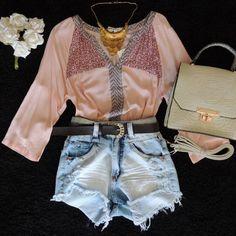 bata-blusa-rosa-rose-quartz-short-cintura-alta-look-comprar-hora-de-diva