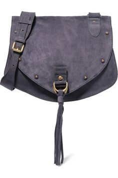 See by Chloé | Collins medium suede and textured-leather shoulder bag | NET-A-PORTER.COM