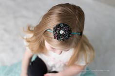 Shabby Rose Headband with Pearl and by CountryBabyHandmade on Etsy, $6.99