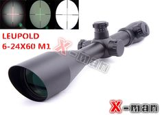 SALE! Leupold 6-24x60 mm AO illuminated scope Hunting Scope Diffope W/ Rings11mm/21mm Tactical Optics