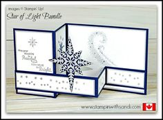 Canadian Stampin Up Demonstrator Sandi MacIver shares a new Stampin Up Video Star of Light Double Z Card for this weeks You Tube Tuesday share. Homemade Christmas Cards, Christmas Cards To Make, Homemade Cards, Christmas Star, Christmas Abbott, Spanish Christmas, Christmas Music, Christmas 2016, Christmas Movies