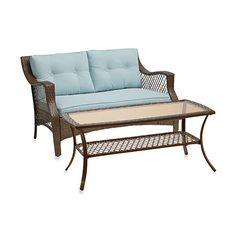 2-Piece Wicker Loveseat Sets $299 bed bath & beyond