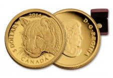 2014 Canada 1/10-oz Gold Cougar Proof